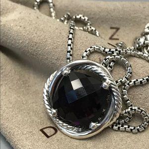 "Amethyst David Yurman Infinity 14mm Necklace 18"""